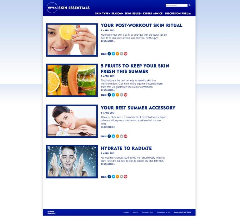 NIVEAskin essentials_Innerpage